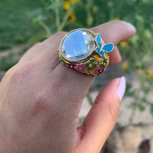 Guess Colorful boho style cocktail ring size 7